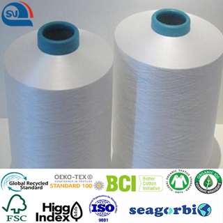 Biodegraded recycled polyester DTY 75d/72f 150d/144f 50d/36f (Oeko-tex100/GRS/Biodegradable/ocean Bound Plastic)